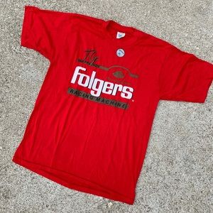 Vintage 90's Folgers Racing Team T Shirt
